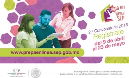 2ª. Convocatoria 2018 Prepa en Línea-SEP